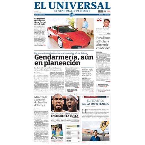 El Universal 2013 | Cortina & Käll